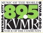 KVMR 89.5 FM Radio Logo - Sienna Gold with Haines Ely Earth Mysteries