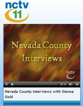 NCTV 11 Nevada County Interviews with Sienna Gold hosted by Lew Sitzer